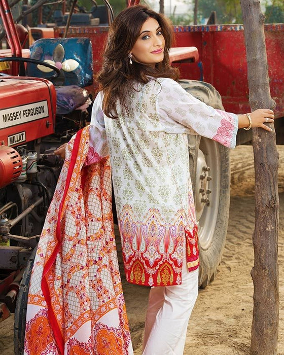 Gul Ahmed Orange Spring/Summer 2017 Collection Two Piece Printed Lawn-TL # 71 A