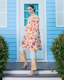 Gul Ahmed Yellow Spring/Summer 2017 Collection Two Piece Embroidered Lawn-TL # 64 B