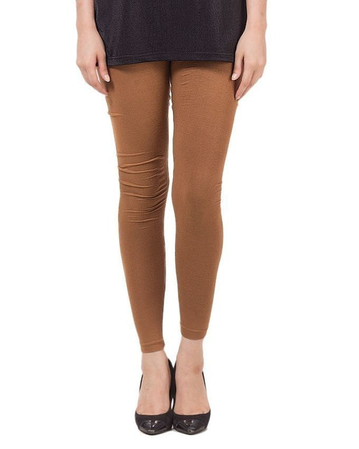 QK Styles Beige Viscose Tights For Women