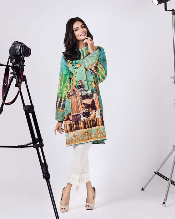 Gul Ahmed Green Winter Collection 2016SDS # 12