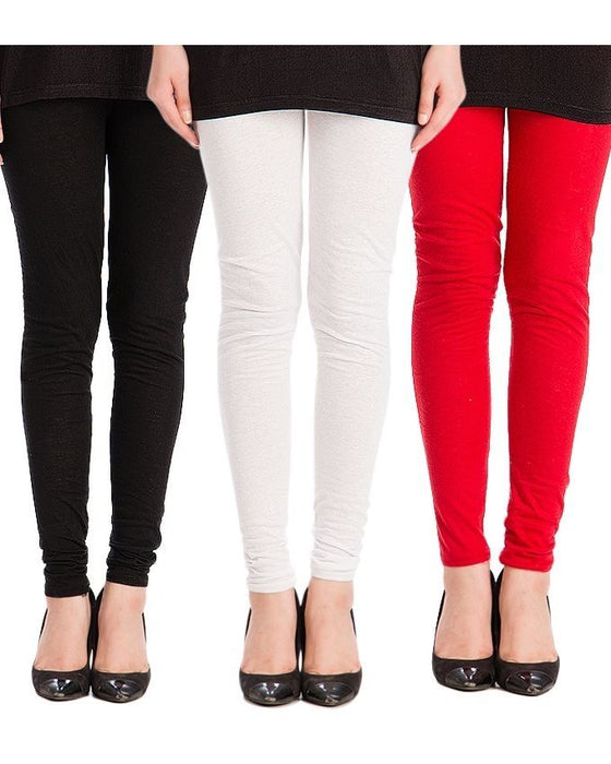 QK Styles Pack of 3 - Multicolor Tights For Women
