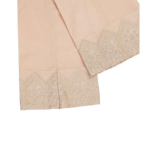 Tarzz Beige Lawn Stitched Accessories Embroidery  Trouser