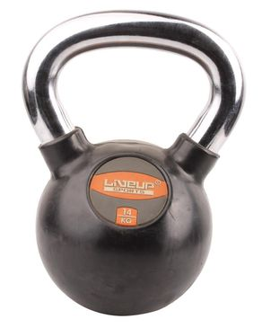 Live Up Rubber Kettlebell - Black & Silver
