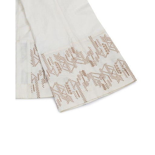 Tarzz Off-White Lawn Stitched Accessories EMB  Trouser