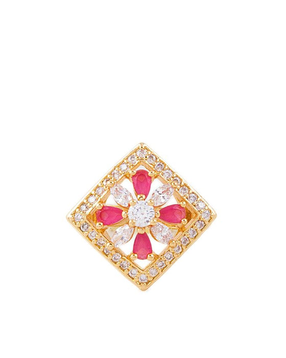 Style and Comfort Gold Plated On Metal Zircon Ring - R-13