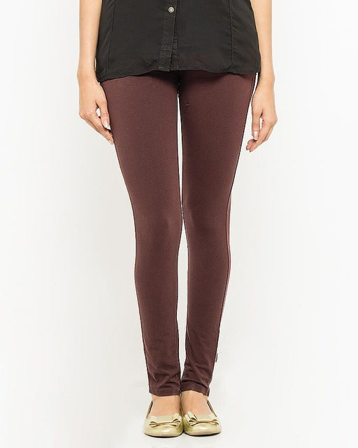 QK Styles Brown Viscose Tights For Women