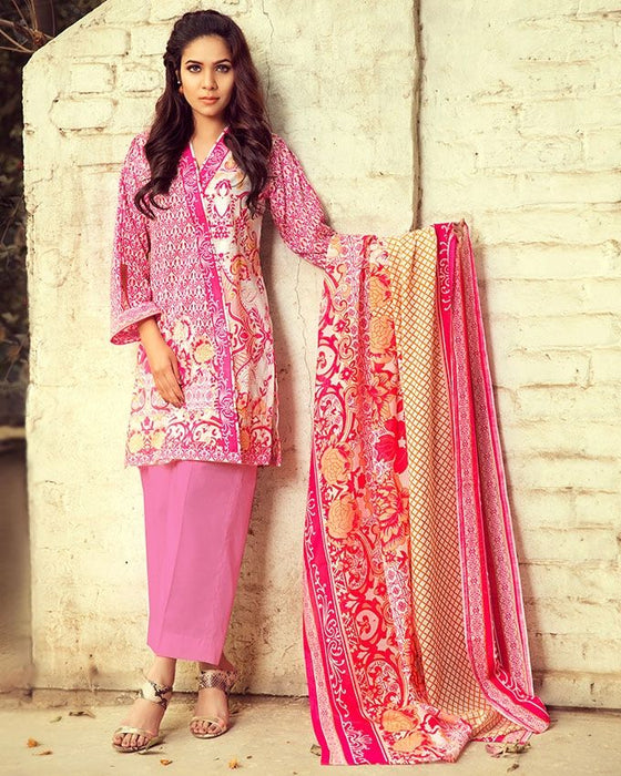 Gul Ahmed Pink Spring/Summer 2017 Collection Printed Lawn-CL # 220 C