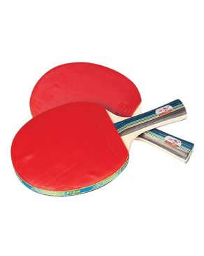 Pair of Table Tennis Racket - Black & Red