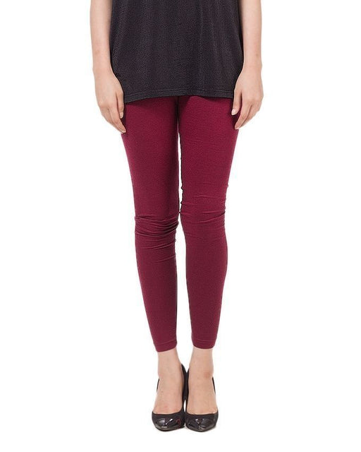 QK Styles Maroon Viscose Tights For Women