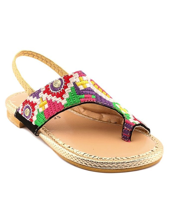 Stylo Shoes Multicolor Synthetic Leather Sandals for Girls - C41621 - Euro Size