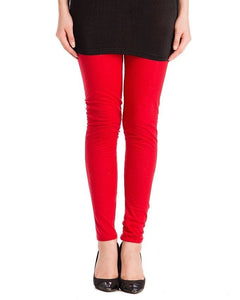 QK Styles Red Viscose Tights For Women