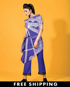 Gul Ahmed Ink Blue Khaddar Winter Collection 2-Piece Unstitched Suit For Women