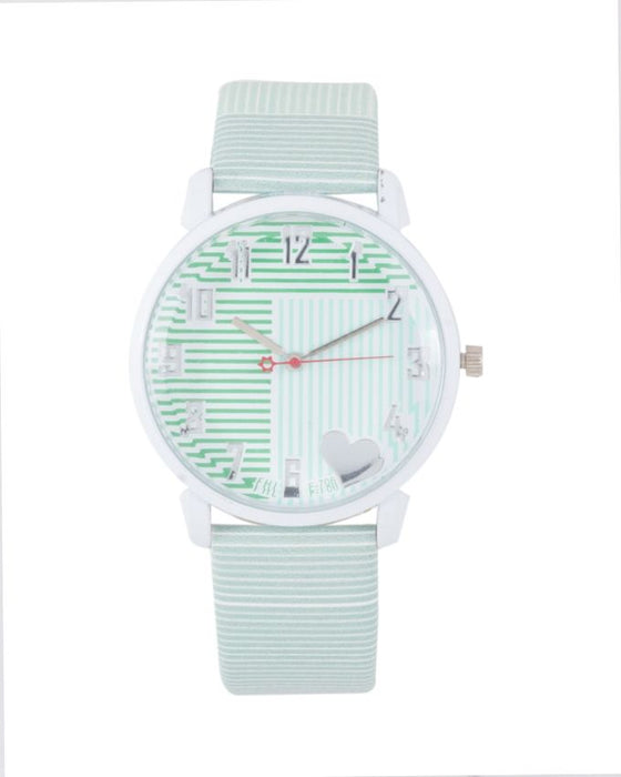 Style and Comfort Green Leather Alloy Watch for Her - LW-2105