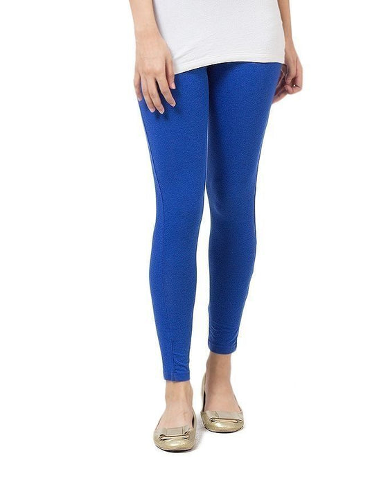 QK Styles Royal Blue Viscose Tights For Women