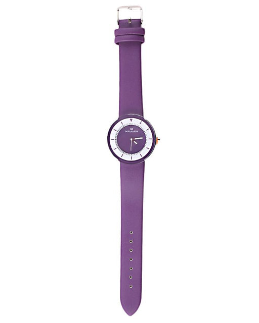 Style and Comfort Purple Leather Watch for Women - LW-2155