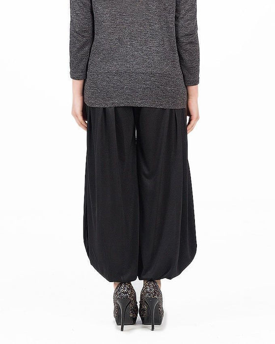 QK Styles Black Viscose Harem Pants For Women