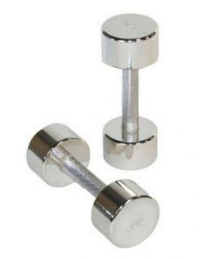 Ingenious Gadgets Pair Of Chrome Dumbbells - 4Kg - Silver