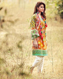 Gul Ahmed Orange Festive Collection 2017 Gypsy 1 Pc Embroidered  Blended Chiffon-GS # 02 Unstitched