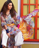 Gul Ahmed Off White Spring/Summer 2017 Collection Soya Silk-SY # 08