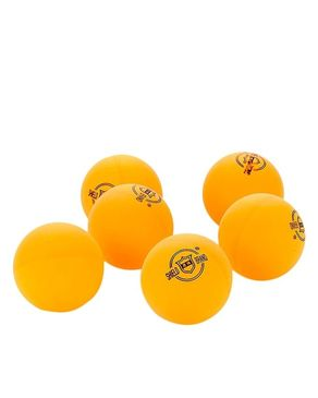 Pack of 6 - Shield Table Tennis Ball - Orange