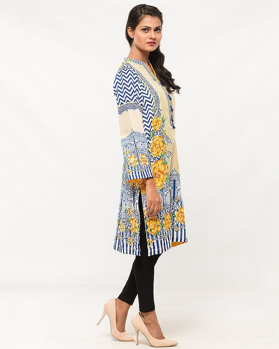 Origins Multicolour Lawn Kurta for Women