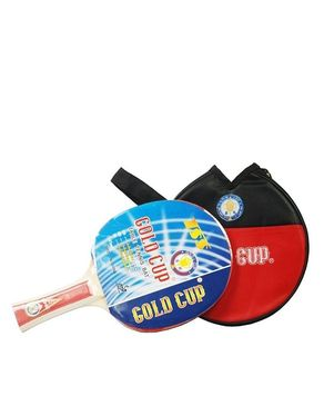 Gold Cup Table Tennis Racket - Black & Red