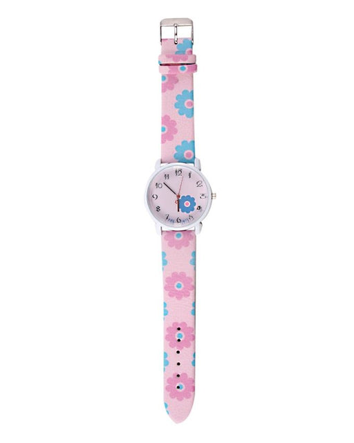 Style and Comfort Pink & Blue Leather Watch for Women - LW-2147