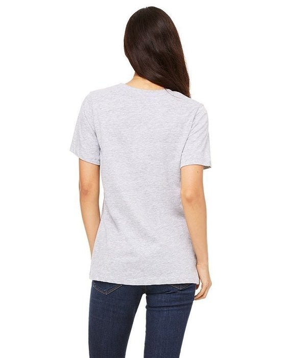 Street Style Grey Cotton Friends Printed T-Shirt For Women