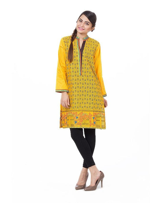 Gul Ahmed Multi Color 1 Pcs Shirt Printed Cambric Kurta - GLS-15-173-116722