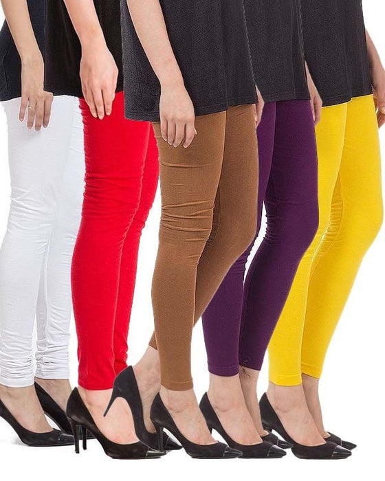 QK Styles Pack of 5 - Multicolor Tights For Women