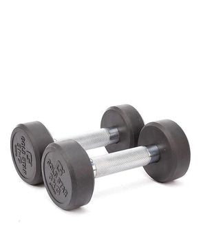 Ladies Corner Pair of 3 Kg - Rubber Coated Dumbbell - Black