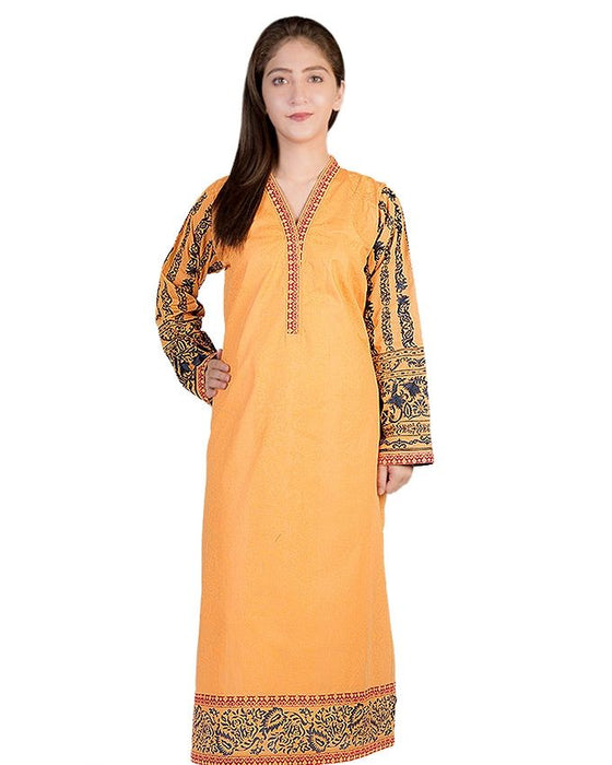 Gul Ahmed Orange Lawn Gul Ahmed Pret Wear Collection Kurta