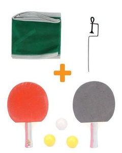 Set of Table Tennis Racket/Net and Balls - Multicolor