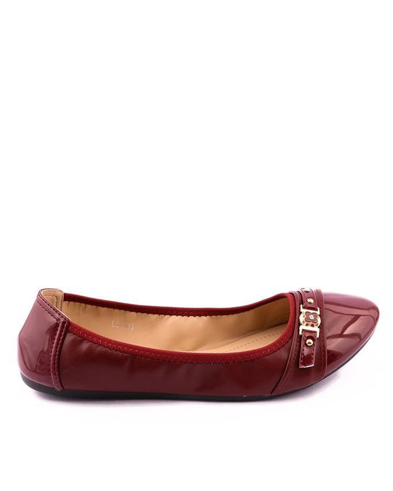 Stylo Shoes Maroon - Synthetic Leather - Pumps - L94968 - Euro