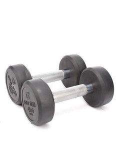 Let's Shop Pair of Gold Star Rubber Coated Dumbells - 4kg - Silver