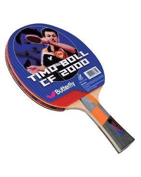 Timo Boll CF 2000 - Table Tennis Racket Red & Black