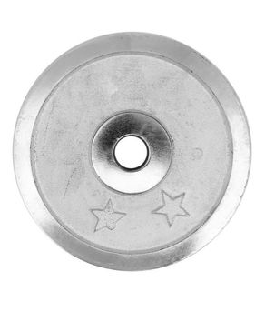 Nadiaz Chrome Single Weight Plate - 3kg - Silver