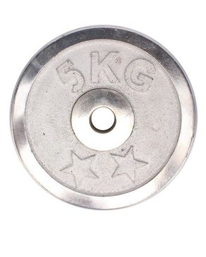 Hydro Fitness Weight Plate Chrome - HF-1015 - 5kg - Silver-Pair