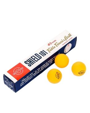 Click Here Pack of 6 - Shield Table Tennis Ball - Orange
