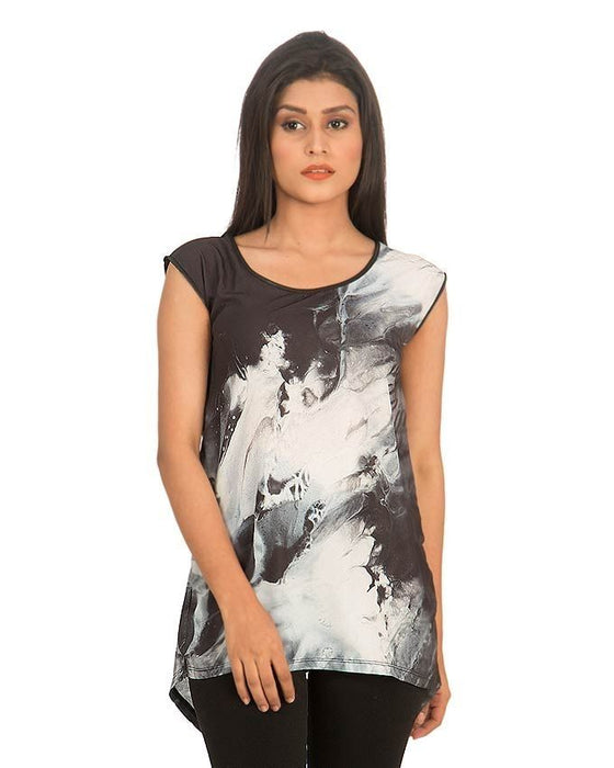 CrossRoads Black & White Women Zipper Top - NR00003