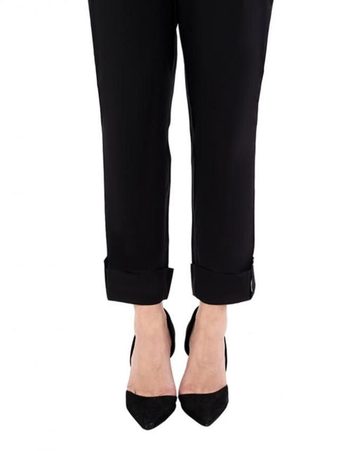 Ego Black Cotton Looped Pants