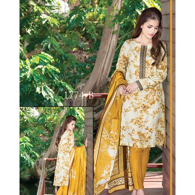 House of Ittehad Mehndi Printed Lawn Ladies Unstitched Shirt LF-JH-1774-17