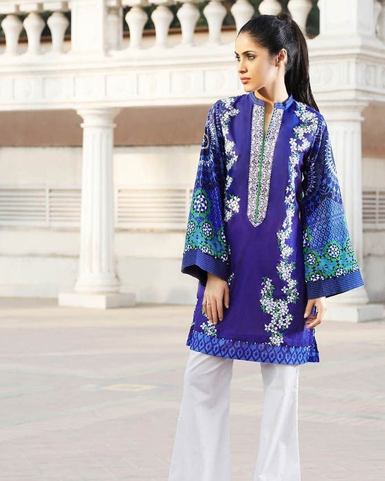 Gul Ahmed Blue Spring/Summer 2017 Collection Single Embroidered-SL # 260