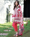 Gul Ahmed Red Spring/Summer 2017 Collection Printed Lawn-CL # 216 B