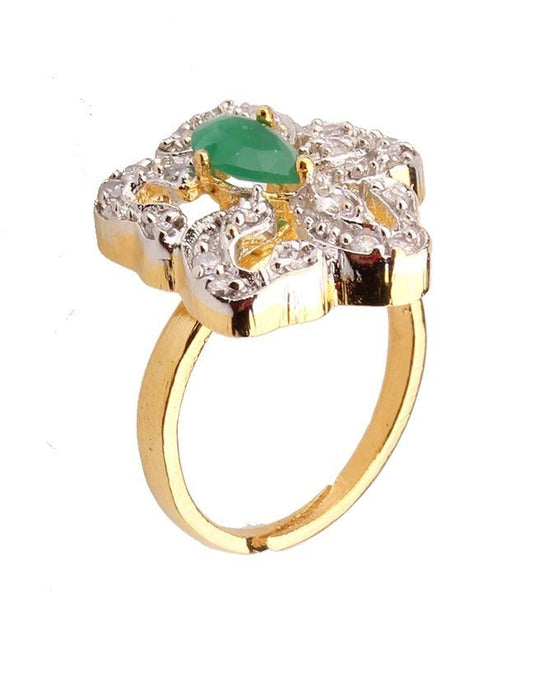 Style and Comfort Gold Plated on Alloy Ring For Women - R-35
