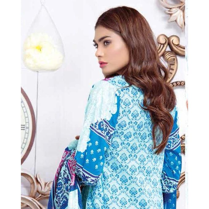House of Ittehad Blue Printed Lawn Ladies Unstitched Shirt LF-CL-2728-17