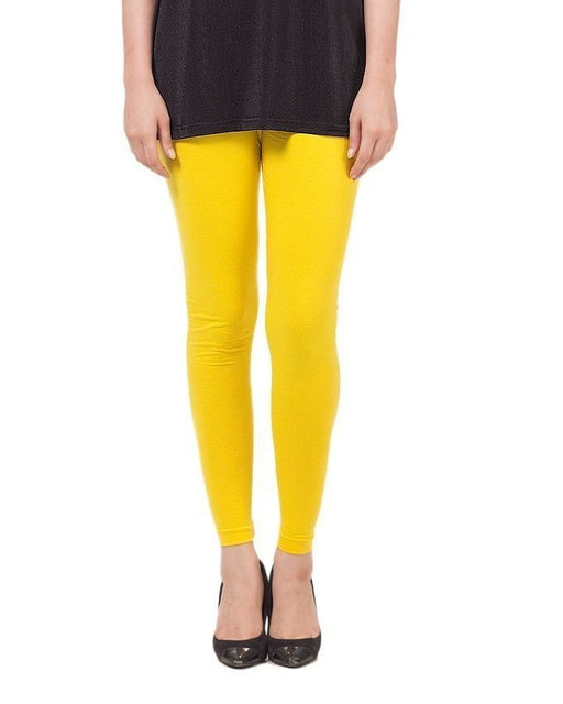 QK Styles Yellow Viscose Tights For Women