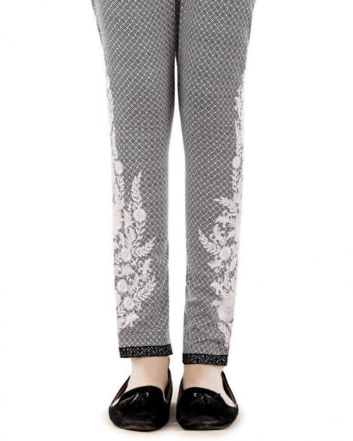 Lala Charcoal Cotton Fantaisie Trouser - LTR-025
