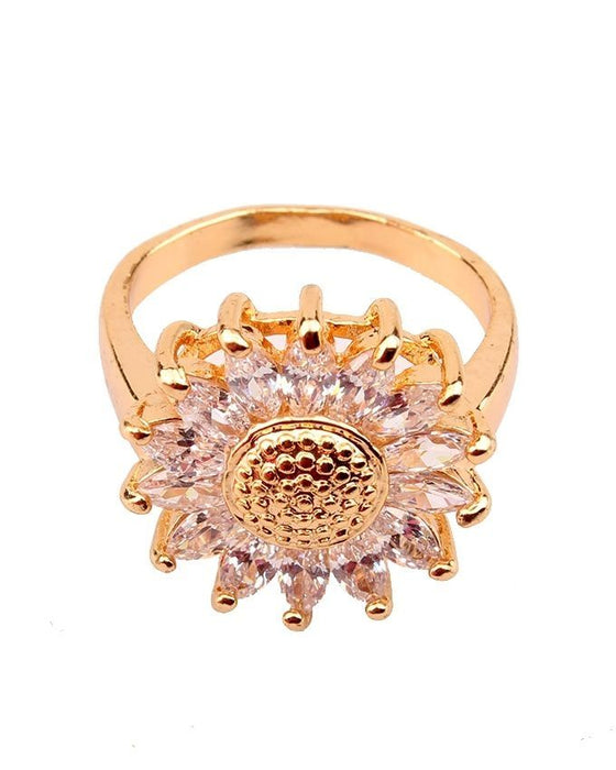 Style and Comfort Gold Plated Alloy Ring For Women - R-43
