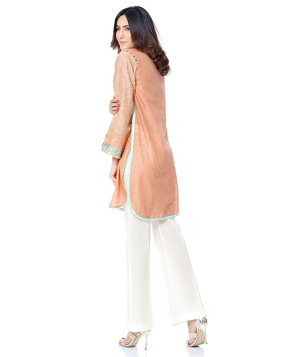 BEECHTREE Ready To Wear Shirt For Women Peach